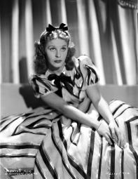 Martha Raye Portrait in Black and White Stripe Dress Photo Print GLP471000