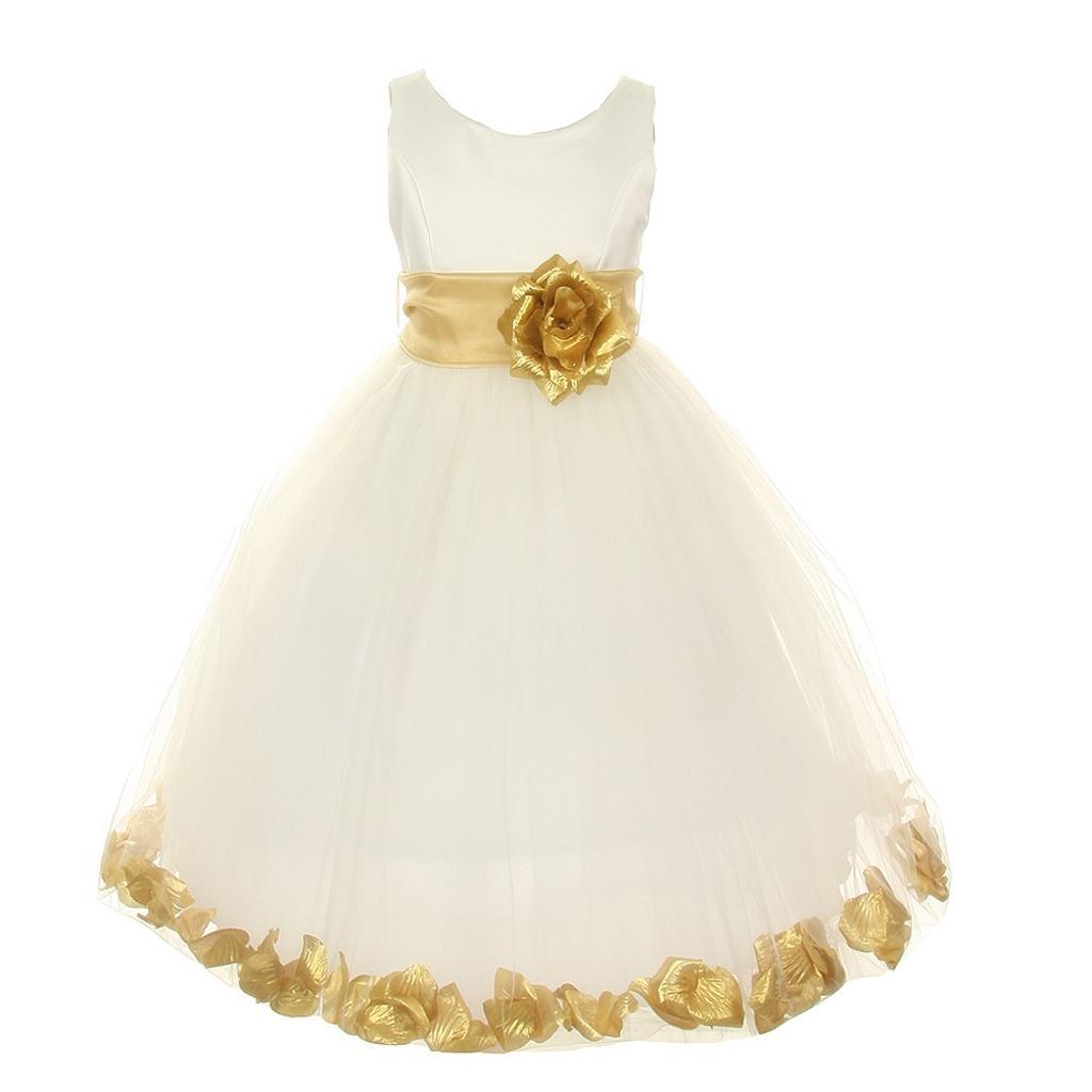Gold Junior Bridesmaid Dresses
