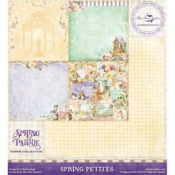 """Blue Fern Spring Parade Double-sided Cardstock 12""""x12""""-spring Petites"""