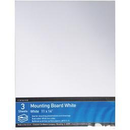 """Crescent White Mounting Board Value Pack 3/pkg-11""""x14"""""""
