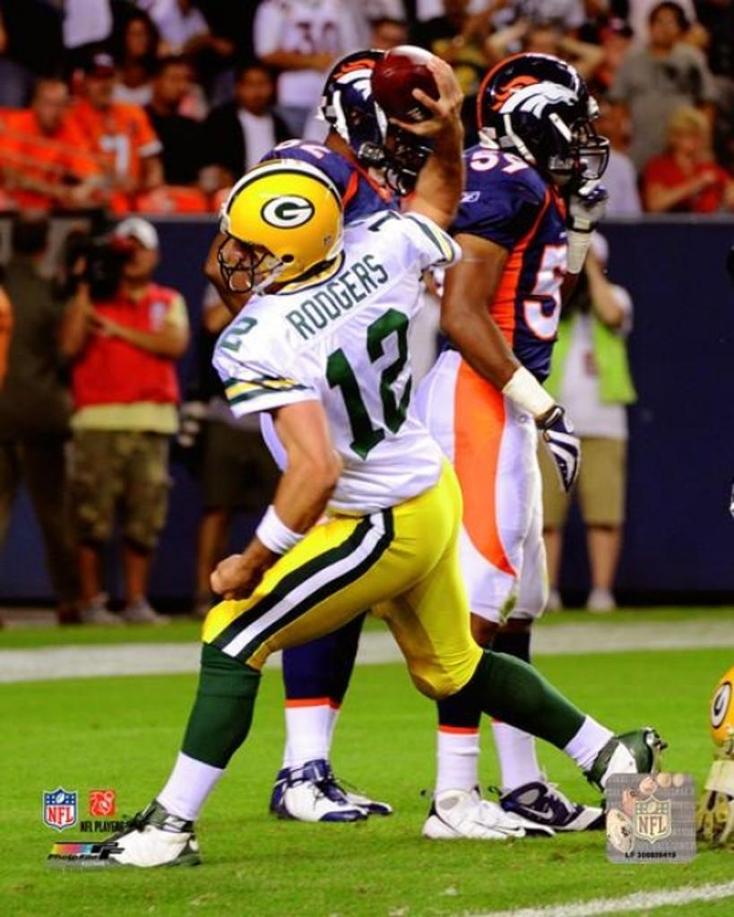 Aaron Rodgers 2008 Action Photo Print