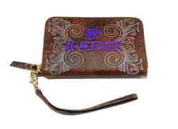 Gameday Wristlet Womens Kansas State Wildcats Brass KST-WR042-1 KST-WR042-1