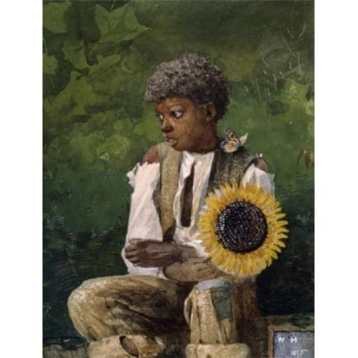 Posterazzi SAL2601109 Taking Sunflower to Teacher 1875 Winslow Homer 1836-1910 American Watercolor Georgia Museum of Art University Poster Print - 18