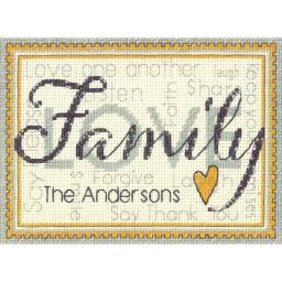 """Family Mini Counted Cross Stitch Kit-7""""X5"""" 14 Count 70-65140"""