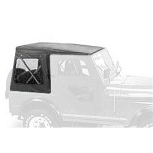 Bestop 51117-01 Soft Top Clear Windows for 1976-1983 Jeep CJ5, Black