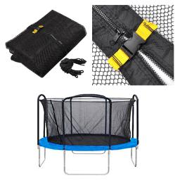 Trampoline Enclosure Net Fence Replacement Safety Mesh Netting 12' 4 Arch 8 Pole