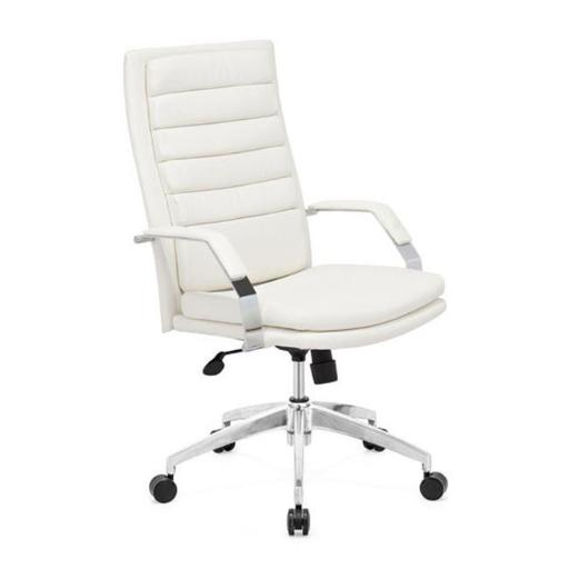 Director Comfort Zuo 205327 Director Comfort Office Chair White