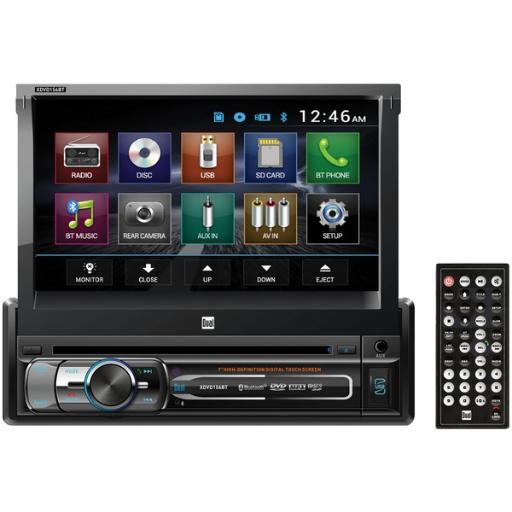 Dual(r) xdvd156bt 7 single-din in-dash dvd receiver with bluetooth(r) & motorized touchscreen
