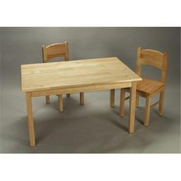 Giftmark 1406N Solid Wood Childrens Table & Chair Set Natural