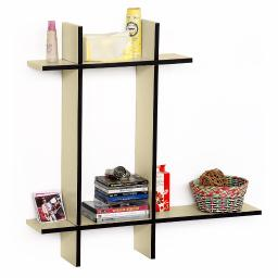 Champagne Party-B Leather Cross Type Shelve / Floating Shelve (4 pcs)