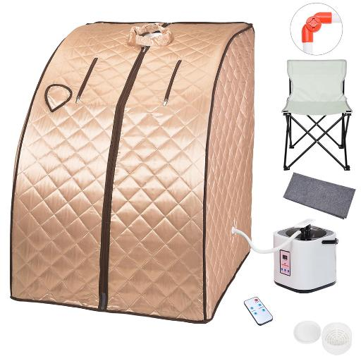 2L Portable Steam Sauna Spa Full Body Sauna Tent Slim Weight Loss Detox Therapy Home with Chair Remote