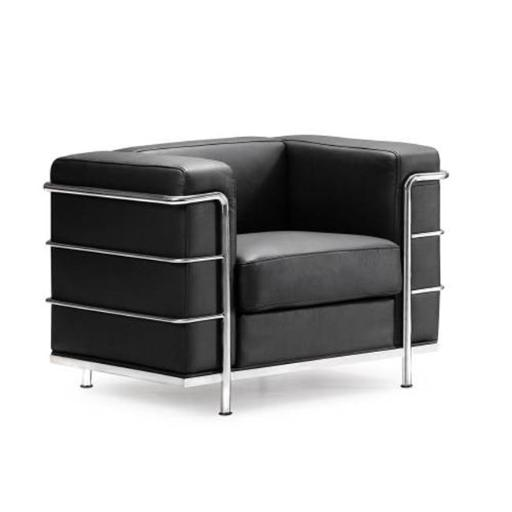 Zuo Armchairs 900220 Fortress Arm Chair Black