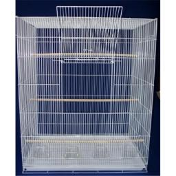 YML 4x2484WHT Lot of Four Large Bird Breeding Cages in White