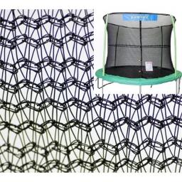 Bazoongi NET12-JP4-7JK 12 ft. Enclosure Netting with 4 Poles & 7 in. Springs with Jump King Logo
