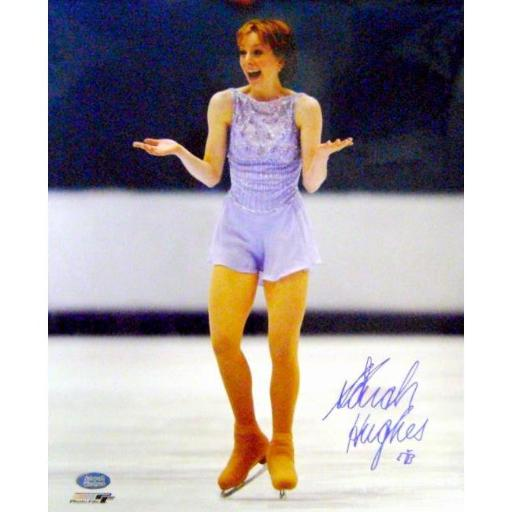 Autograph Warehouse 421845 Sarah Hughes Autographed Photo Figure Skating 2002 Winter Olympic Gold Medal Figure Skating USA - Size 16 x 20 in.