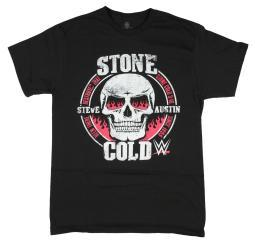 WWE Stone Cold Steve Austin Fire In The Eyes Licensed Graphic T-Shirt