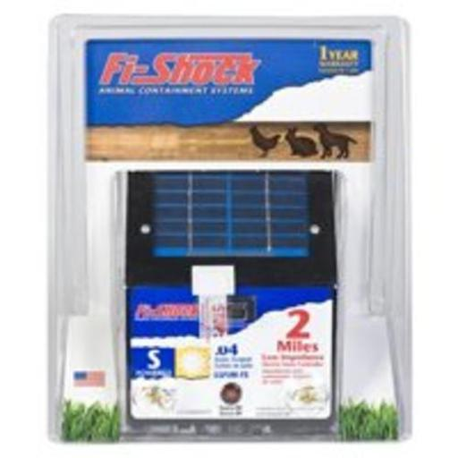 Fi-shock Esp2m-fs Solar Powered Low Impedance Pet Deterrent Fence Energizer, 2 Mile