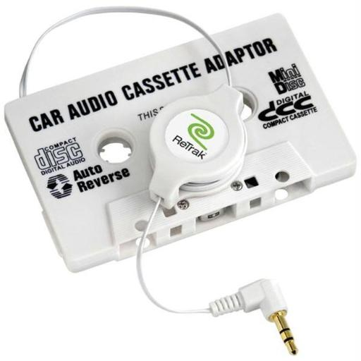 Retrak-Emerge Etcassette Retractable Car Audio Cassette Adapter