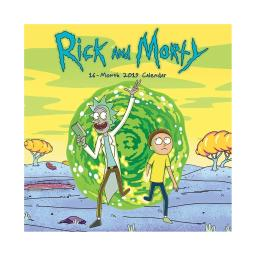 Rick and Morty 16-Month 2019 Mini Calendar Sanchez Cartoon Network Jerry Gift