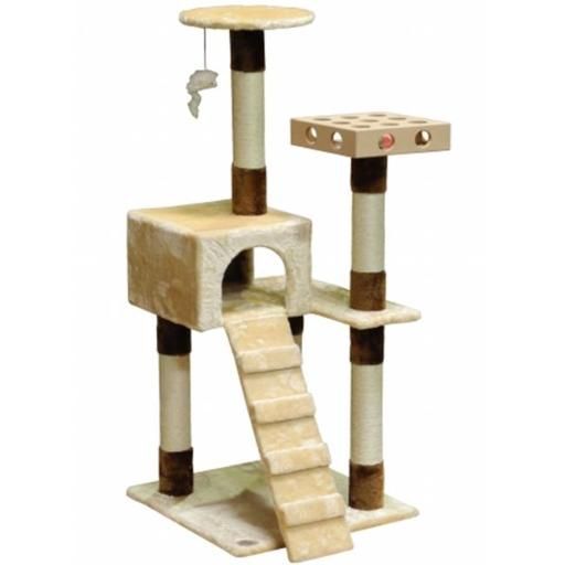 Go Pet Club SF058 IQ Busy Box Cat Tree House Toy Condo Pet Furniture, 21 W x 22 L x 52 H in.