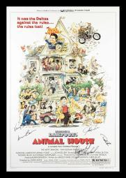 Animal House - Signed Movie Poster in Wood Frame with COA