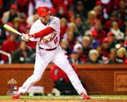 Lance Berkman 2 RBI Single Game 1 of the 2011 World Series Action PFSAAOE02601