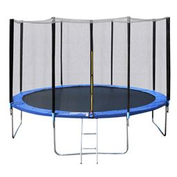 14 ft Trampoline Combo w/ Safety Enclosure Net  Spring Pad & Ladder