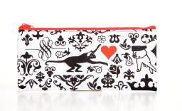 Carolina Pad True Love Large Zipper Pouch, 4 x 8.75 Inches, Red and Black (19412)