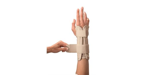 Mueller Wrist Stabilizer, Large/X-Large, Beige, 1-count Package Designed to help relieve the pain and swelling associated with carpal tunnel syndrome and to help support weak injured wrists. Lightweight and comfortable all day wear.