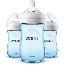 Philips Avent 9oz Natural Baby Bottles 3-Pack - Blue