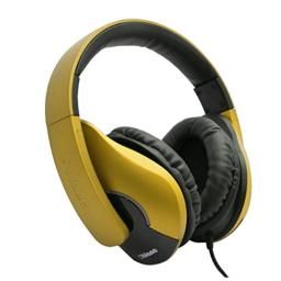 Oblanc OG-AUD63070 SHELL200 Stereo Headphones with In-line Microphone - Gold