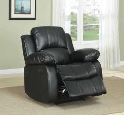 Bonded Leather Recliner Chair, Black