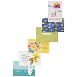 Bella Blvd 1288 Illustrated Faith Basics Blessings by Mail Postcards, Animals, Assorted