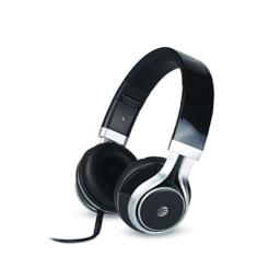 AT&T Stereo Over-Ear Headphones with Built-in Microphone, Black (HPM10-BLK)