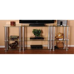 "RTA Home and Office TVM-0075 Extra Tall Glass and Aluminum LCD and Plasma TV Stand for a 75"" TV"