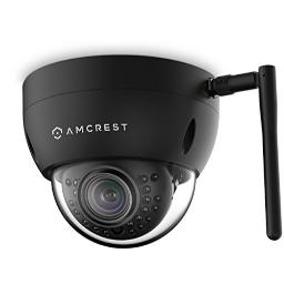 Amcrest ProHD Fixed Outdoor 3-Megapixel (2304 x 1296P) Wi-Fi Vandal Dome IP Security Camera - IP67 Weatherproof, IK10 Vandal-Proof, 3MP (1080P/1296P), IP3M-956B (Black)
