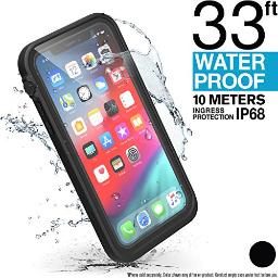 Catalyst Designed for iPhone Xs Waterproof Case with Lanyard, Shock Proof Drop Proof Military Grade for Hiking, Swimming, Adventure, Beach, Kayaking, for iPhone Xs ONLY  Retail Packaging  Black