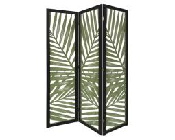 Screen Gems SG-363 Tropical Leaf Design 3 Panel Papete Screen Room Divider,Green