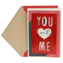 Hallmark Anniversary Card or Love Card for Significant Other (You and Me Paper Craft)