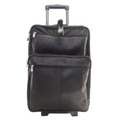Piel Leather 22 Inch Wheeled Traveler, Black, One Size