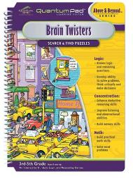 Quantum Pad Learning System Brain Twisters Interactive Book And Cartridge
