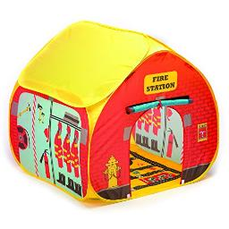 Fun2Give Popitup Firestation Tent With Streetmap Playmat Playhouse
