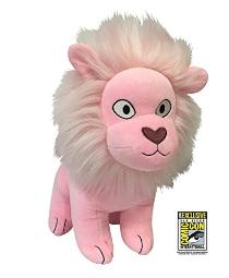 """STEVEN UNIVERSE SDCC 2017 Exclusive 12"""" Jumbo Pink Lion Plushie with Sticker"""
