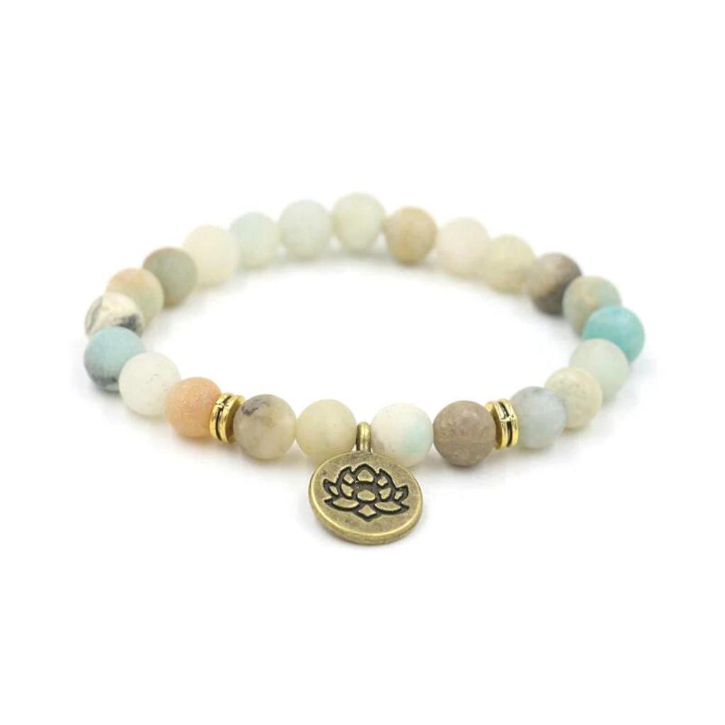 Yoga Bracelets White Beaded with Spiritual Charms