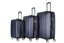 Brio Luggage Hardside Spinner Luggage Set #1331 - Navy