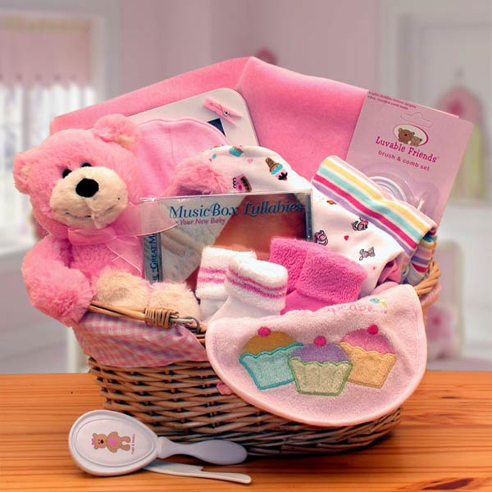 Gift Basket Simply The Baby Basics New Baby Gift Basket -Pink