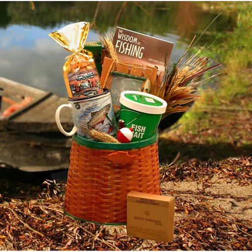 Gift Basket The Fisherman's Fishing Creel Gift Basket – Medium