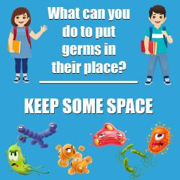 Flipside products keep some space floor stickers 5pk