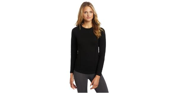 Duofold Women's Heavy Weight Double Layer Thermal Shirt, Black, Small