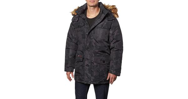 Canada Weather Gear Mens Faux Fur Insulated Parka Coat